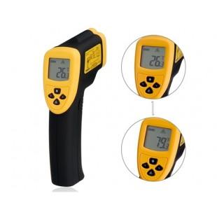 DT8380 Инфракрасный ручной цифровой термометр (оранжевый + черный)