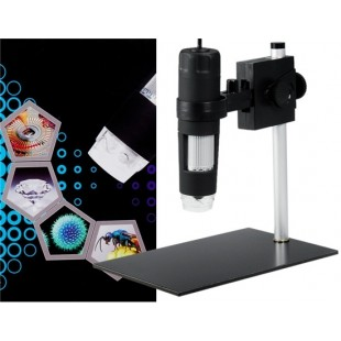 600x увеличение 2.0 МП USB цифровой микроскоп (черный)