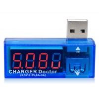 USB зарядный ток/Напряжение тестер USB вольтметр/амперметр (синий)
