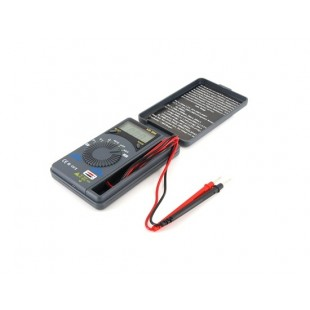 Карманный ЖК-цифровой мультиметр Вольтметр Амперметр (черный)