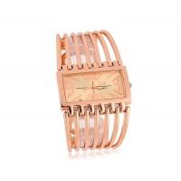 Женщины`с аналоговые часы с золотым браслетом (Золотой)