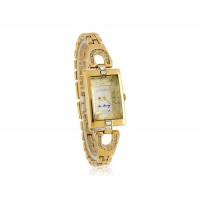 Юлий ja-443 3D квадратный Циферблат из нержавеющей стальной ленты для женщин`ы часы с бриллиантом украшения (золото)