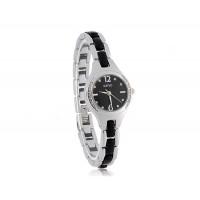 Круглый циферблат женский браслет сплава аналоговые часы (черный)