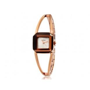 KIMIO 463 кварцевые женские Аналоговые Часы-браслет (коричневый + Silver) модель YW0968X