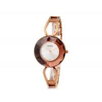 Кварцевые аналоговые часы браслет KIMIO 462 женщин (Brown & Amp; серебро)