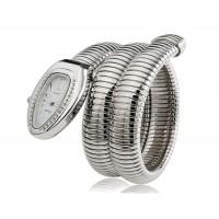 Женщины`ы Змееголов Циферблат аналогового дисплея 626 движение наручные часы с регулируемым ремешком (серебро)