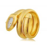 Женщины`ы Змееголов Циферблат аналогового дисплея 626 движение наручные часы с регулируемым ремешком (золото)
