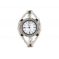 Женская кварцевые наручные часы с отделкой Diamond (серебро)