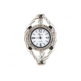 Женская кварцевые наручные часы с отделкой Diamond (серебро) модель YW125S