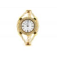 Купить Женщины`ы Кварцевые наручные часы с бриллиантом украшения (Золотой)