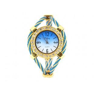 Женщины`ы Кварцевые наручные часы с бриллиантом украшения (Золотой) модель YW127Y