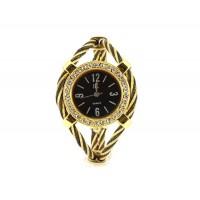 Женщины`ы Кварцевые наручные часы с бриллиантом украшения (Золотой)