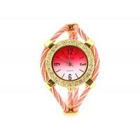 Купить Женские кварцевые наручные часы с алмазной украшения (розовый)