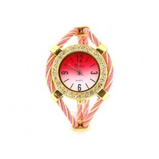 Женские кварцевые наручные часы с алмазной украшения (розовый) модель YW130P