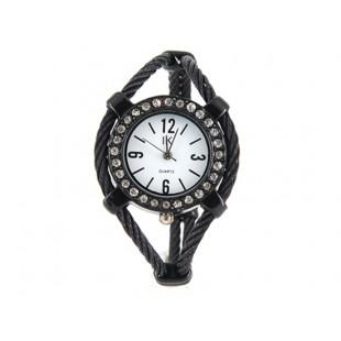 Женская кварцевые наручные часы с отделкой Diamond (Белый) модель YW131W