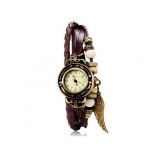 Женские аналоговые часы-браслеты (коричневые)