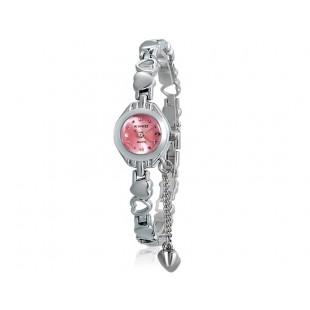 KIMIO 018 Женская модная Аналоговые часы с нержавеющая сталь Ремешок (розовый) М. модель YW1855P