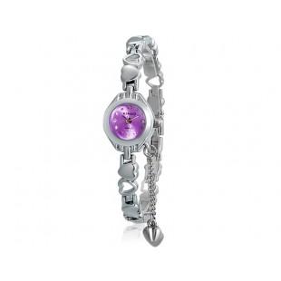 KIMIO 018 женщин`ы модная аналоговые часы с нержавеющей стали ремешком (фиолетовый) М. модель YW1855U