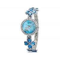 KIMIO 456 Женская модная Аналоговые часы с Clover ремень дизайн (синий) М.