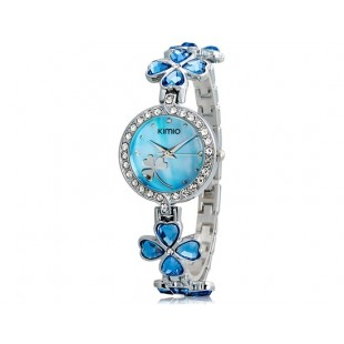 KIMIO 456 Женская модная Аналоговые часы с Clover ремень дизайн (синий) М. модель YW1856L