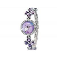 KIMIO 456 Женская модная Аналоговые часы с Clover Design ремешком (фиолетовый) М.