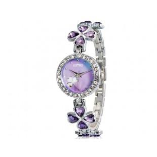 KIMIO 456 Женская модная Аналоговые часы с Clover Design ремешком (фиолетовый) М. модель YW1856U