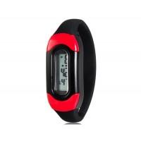 Модные цвета конфеты 30M Водонепроницаемый Силиконовые спортивные браслет наручные часы (черный)