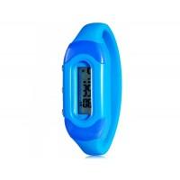 Модные цвета конфеты 30M Водонепроницаемый Силиконовые спортивные браслет наручные часы (синий)