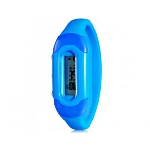Модные цвета конфеты 30M Водонепроницаемый Силиконовые спортивные браслет наручные часы (синий) модель YW2276L