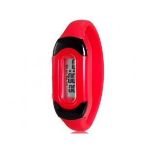 Модные цвета конфеты 30M Водонепроницаемый Силиконовые спортивные браслет наручные часы (красный) модель YW2276R