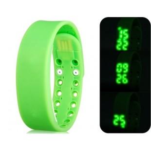 Многофункциональный USB Смарт браслет с 3D шагомер & Monitor сна функций (зеленый) модель YW2302G