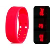 Многофункциональный USB Смарт браслет с 3D шагомер & Monitor сна функций (красный)