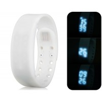 Многофункциональный USB Смарт браслет с 3D шагомер & Monitor сна функций (белый)