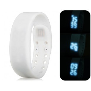 Многофункциональный USB Смарт браслет с 3D шагомер & Monitor сна функций (белый) модель YW2302W