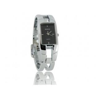 KIMIO 1601 из нержавеющей стали квадратной браслет леди Электронные наручные часы (черный) модель YW749B