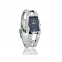 KIMIO 1601 из нержавеющей стали квадратной браслет леди Электронные наручные часы (синий)