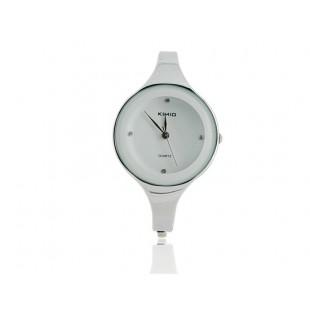 KIMIO 2682 из нержавеющей стали rounded Браслет Lady`ы электронные наручные часы (Белый) модель YW750W