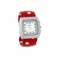 Купить Стильный квадратный корпус аналогового браслет Часы (красный)