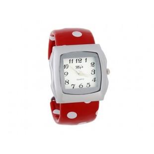 Стильный квадратный корпус аналогового браслет Часы (красный) модель YWE87R