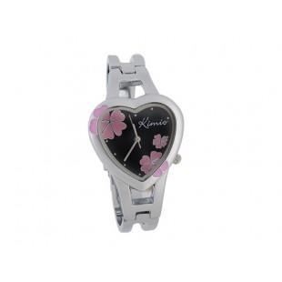 KIMIO сердце shaped дело аналоговый женщины`ы часы Браслет (черный) модель YWF44B