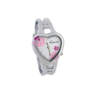 KIMIO Heart Shaped Дело Аналоговый Женский браслет Часы (розовый) модель YWF44P