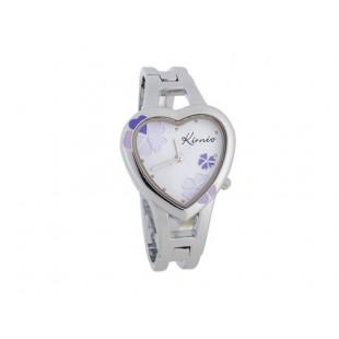 KIMIO сердце shaped дело аналоговый женщины`ы часы-Браслет (фиолетовый) модель YWF44U