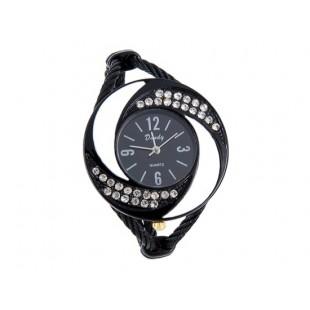 Браслет Аналоговые часы с Кристалл декорации (черный) модель YWF78B