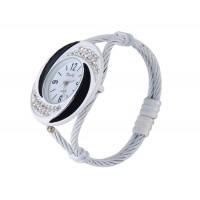Браслет Аналоговые часы с Кристалл украшения (белый)