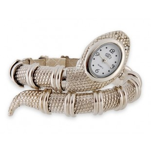 Змея Shaped браслет часы (серебро) модель YWG24S