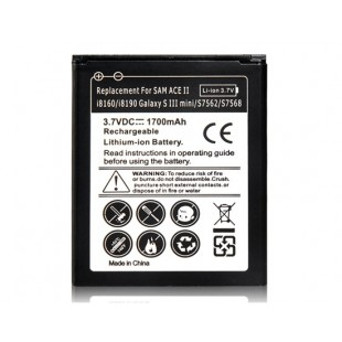 Li-ion 3.7 V 1300mAh литий-ионный аккумулятор для Samsung Galaxy ACE 2 i8160/i8190 & Galaxy S3 Mini/S7562/S7568