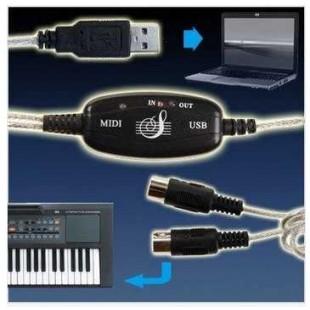 USB MIDI-кабель МИДИ адаптер длинна 2 метра экранированный провод