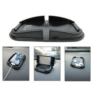 Многофункциональный силиконовый держатель мобильного телефона (черный)