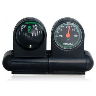 2 в 1 автомобильный термометр с компасом