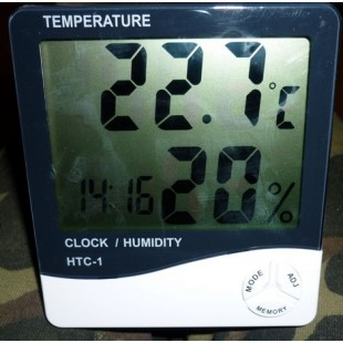 Цифровой комнатный термометр / гигрометр / часы